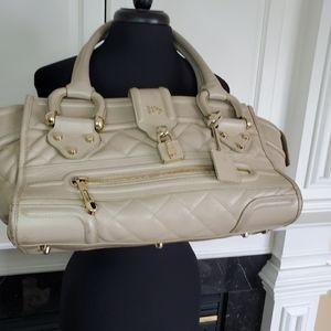 Authentic Burberry Manor Leather Handbag